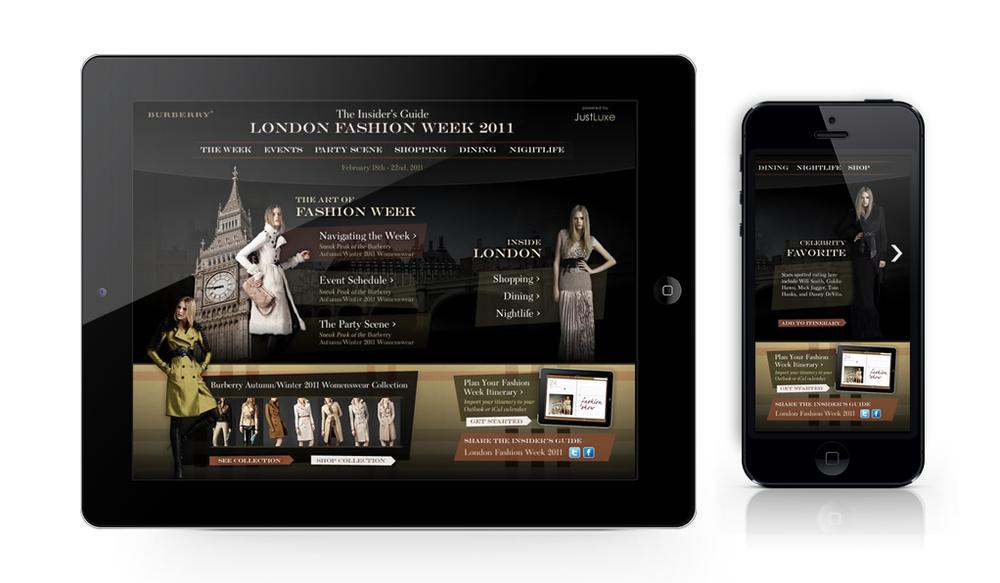 Burberry London Fashion Week App