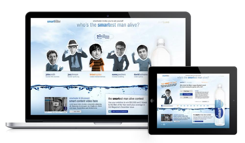 Smartwater Campaign Microsite