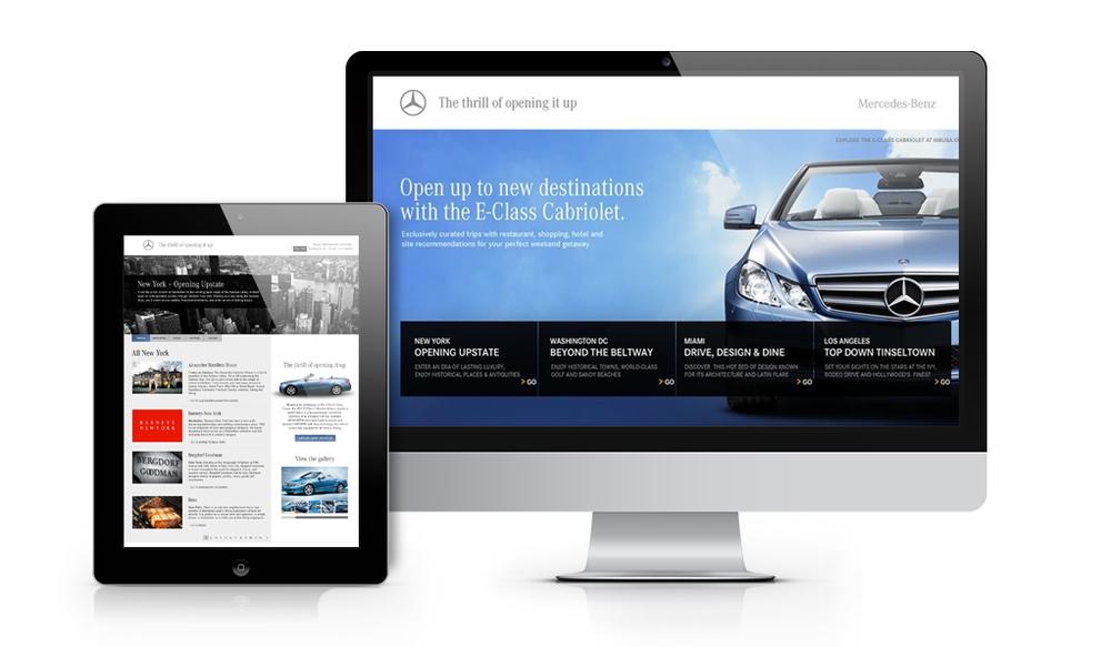 Mercedes Benz Microsite