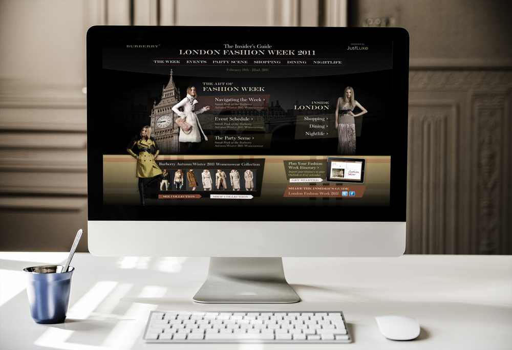 Burberry London Fashion Week Microsite