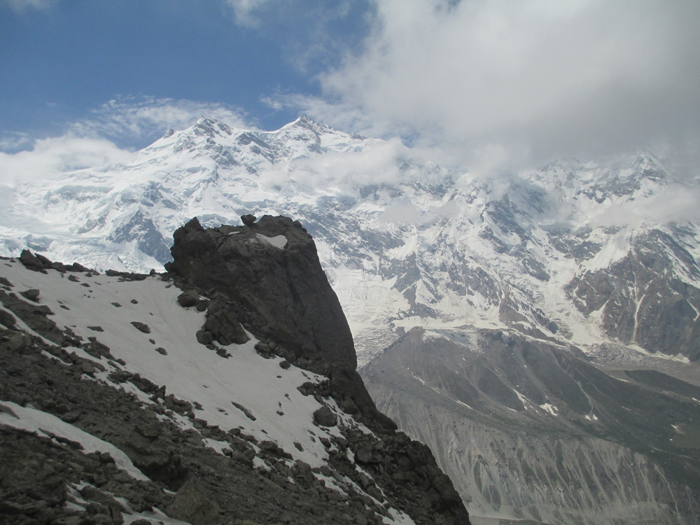 Nanga Parbat as see from Bulder peak ridgeline 4750m