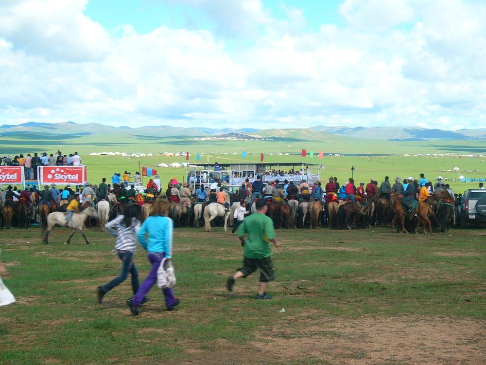 Horse race Mongolia