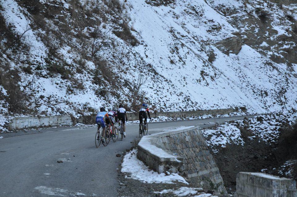Bike Race in the Galis , Pakistan
