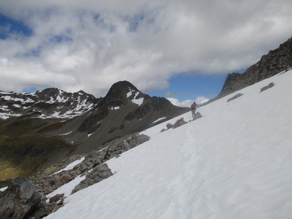 Tom on route to Cascade saddle