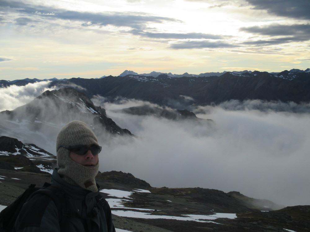Cold winters day on Robert Ridge with Carl