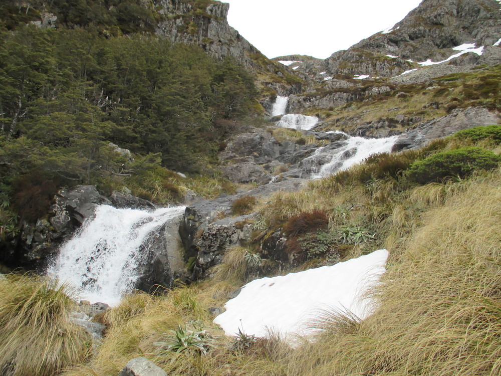 Waterfalls on way up Cascade track to Angelus