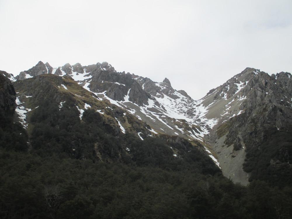 way up Cascade track to Angelus