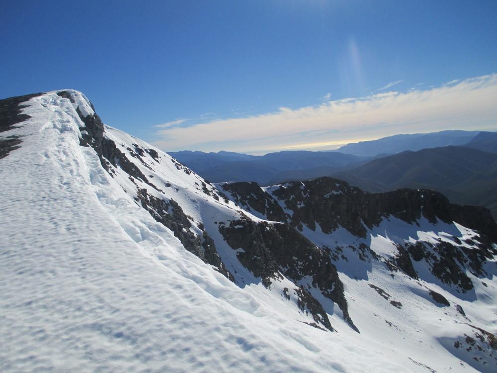 final   ridge on local training, Mount Arthur