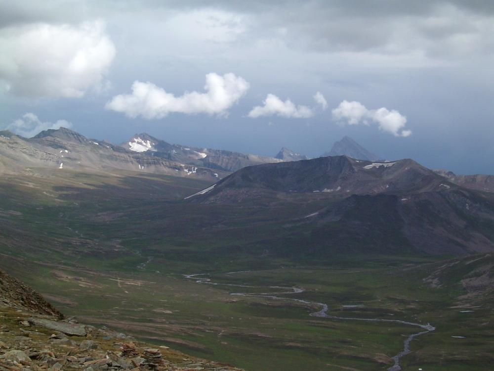 view from Top -Barbusar pass , Pakistan 4170m