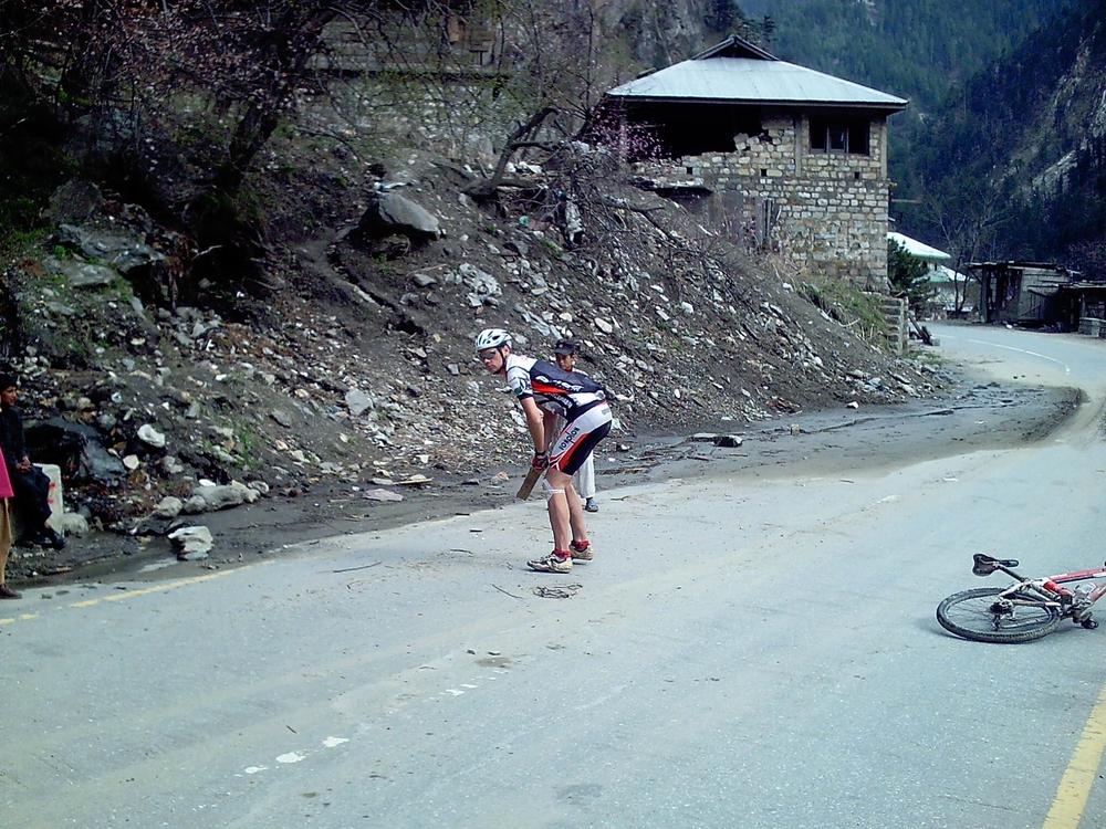 Tim Plays Cricket,Kaghan valley, Pakistan