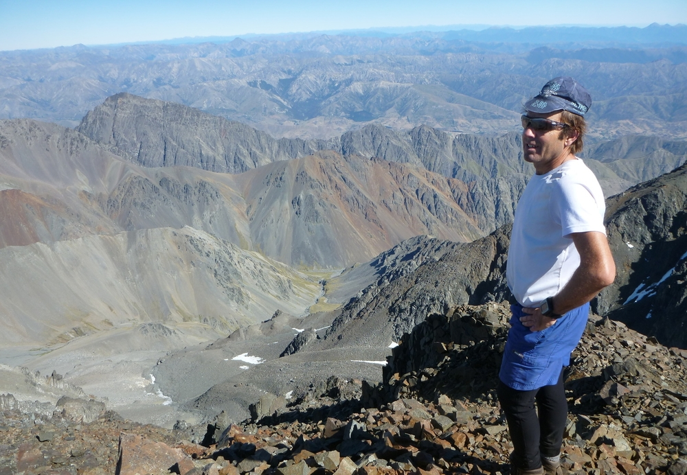 on the summit of Tapuae-o-Uenuku in mid-summer Jan 2015