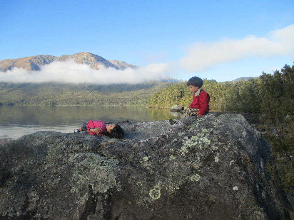 Leo and Isabelle at the Nelson Lakes