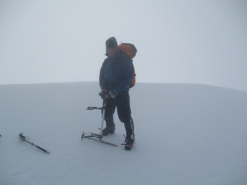 Looks Polar as summit of Angelus can be with a wild day