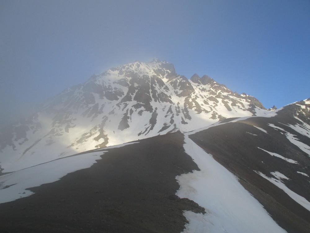 Muzzle Saddle   2222m,   Mount Alarm in the background