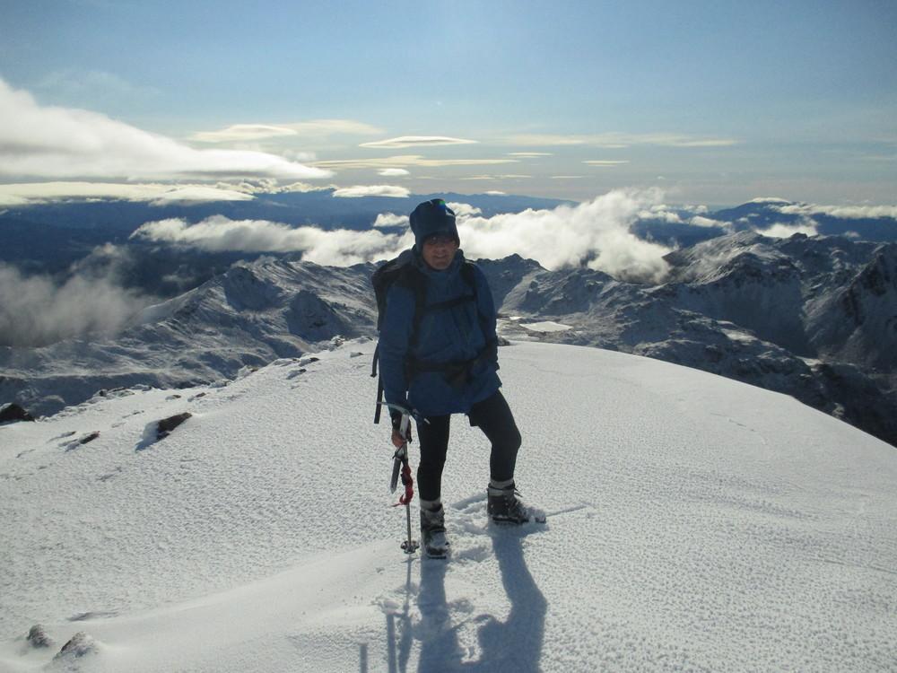 Summit Mt Angelus 2090m, June 2015
