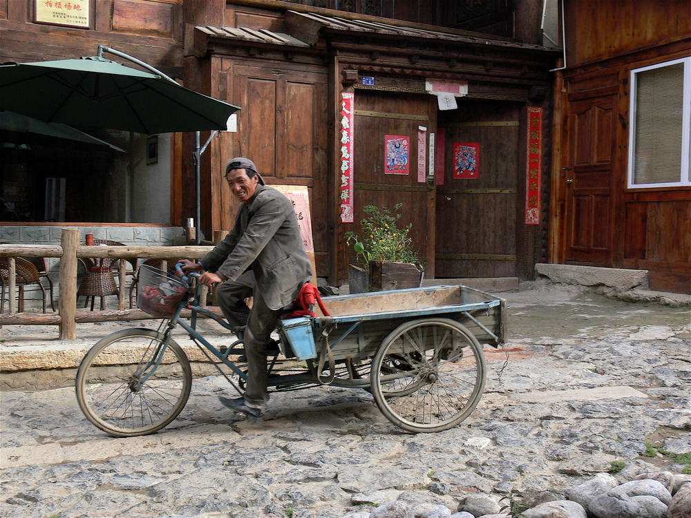 Fellow cyclist in Shangrila , China