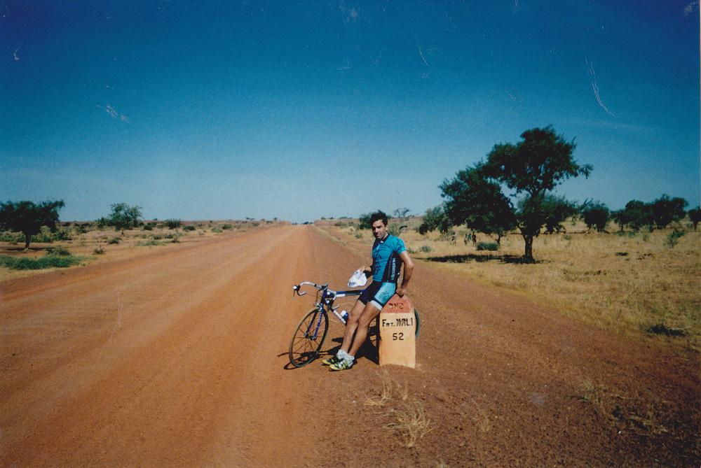 Border Burkina Faso and Mali on edge of Sahara desert, Africa