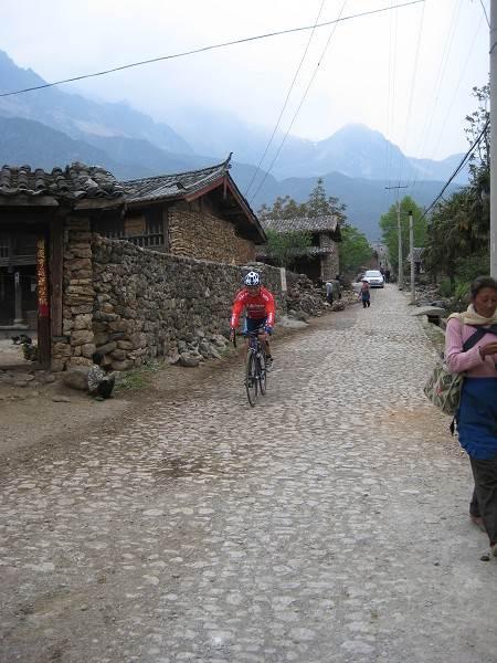 Loh on the cobbles Yunnan China