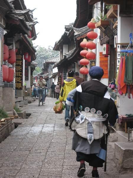 Old Town old woman , Lijiang, China