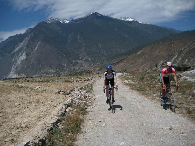 Riding with Matt on Chinese cobbles