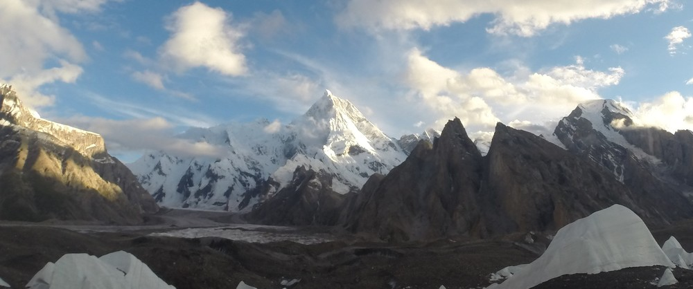 "Conway wrote - ""Incomparable Masherbrum ""- a crystal spire rising more than 4000 meters directly above the Glacier"