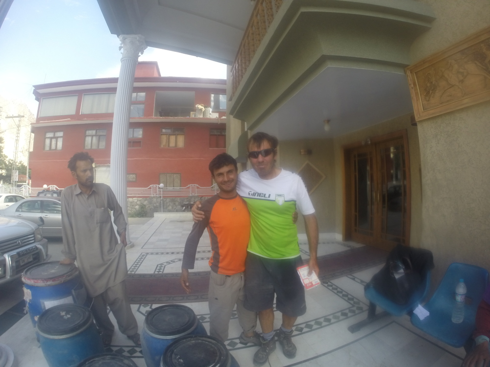 A special friend - Ibrahim, amazing guy, here afterwards in Skardu