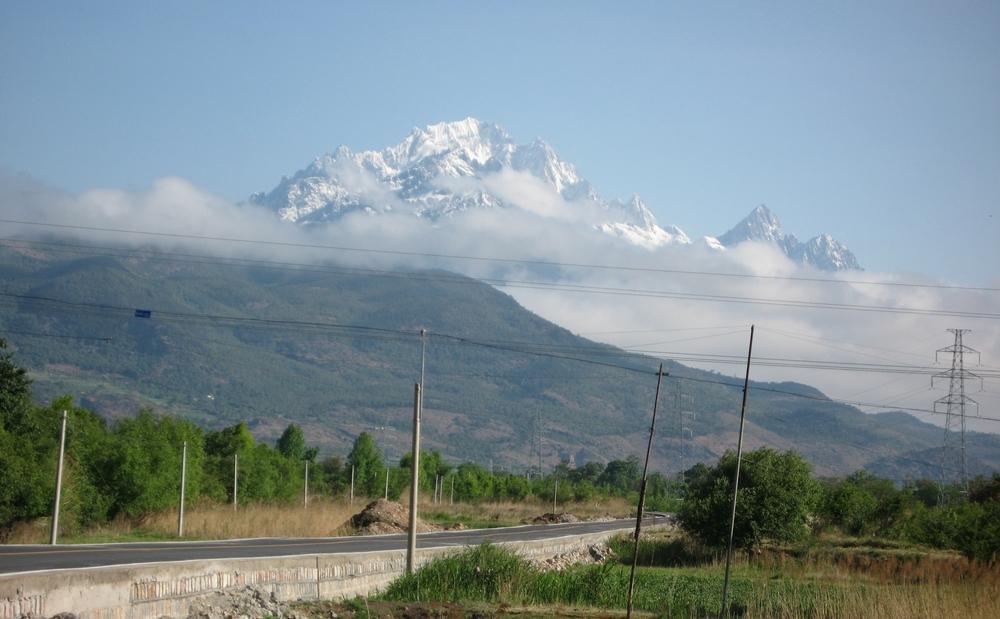 Shanzidou 5596m , highest point of the Jade Dragon snow mountains outside Lijiang , Yunnan China ...