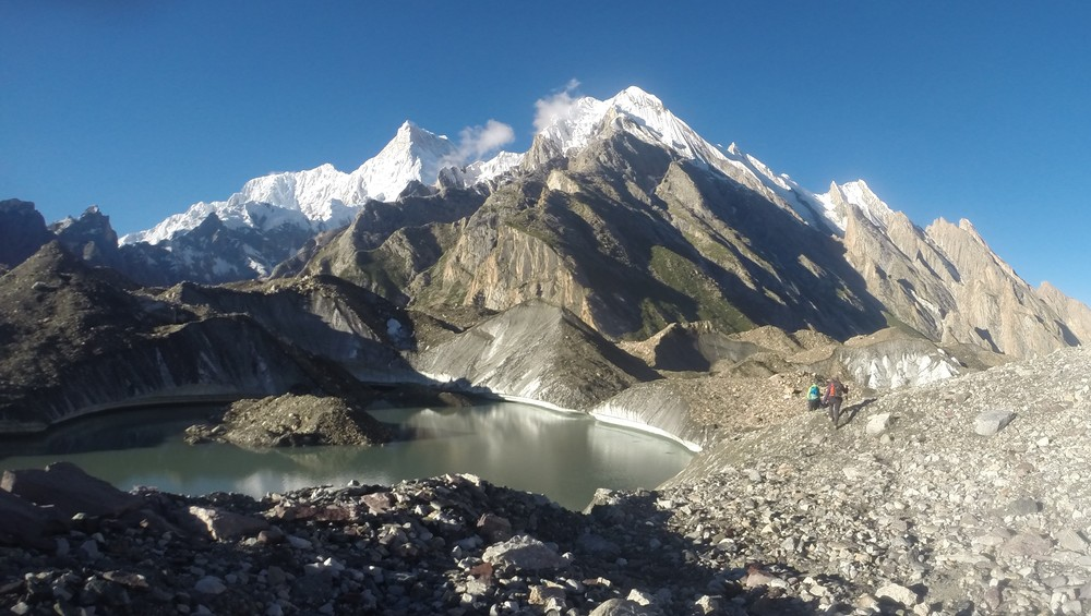 Masherbrum from another angle hiking down the Baltoro.