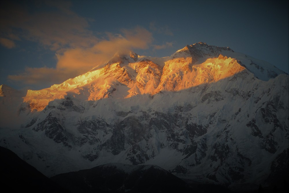 """Nanga Prabat at dawn -     """"this mountain is a Paradox , at once so completely pure but also so brutally harsh"""" - French mountaineer,  Elisabeth Revol"""