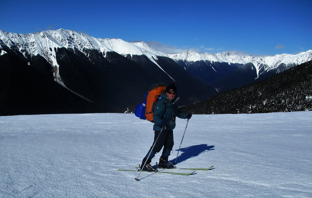 I can't say skiing really interests me much as a stand alone activity but the opportunity it presents to range quickly over deep snow terrain is very attractive and therefore a great tool for mountain adventures in winter . Skiing with a heavy pack does present some center of gravity problem's though!!