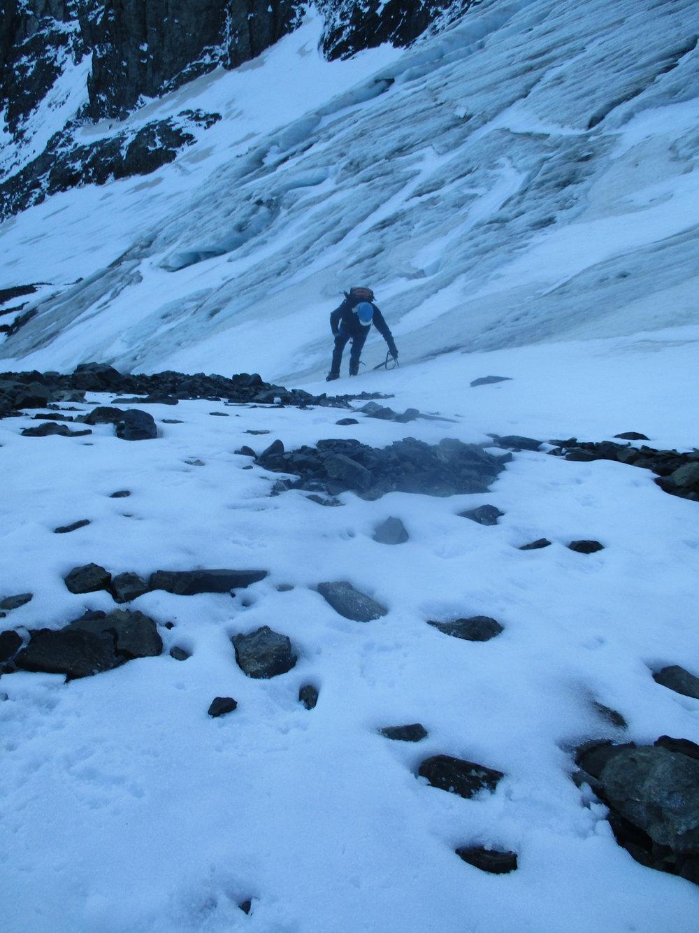 Ben on the Lower Glacier