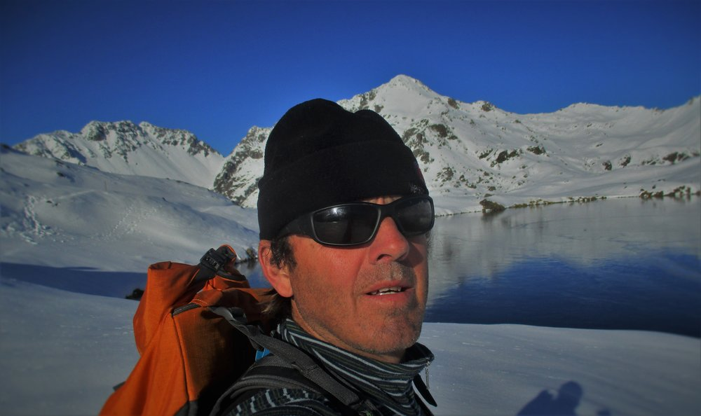 At Lake angelus in winter