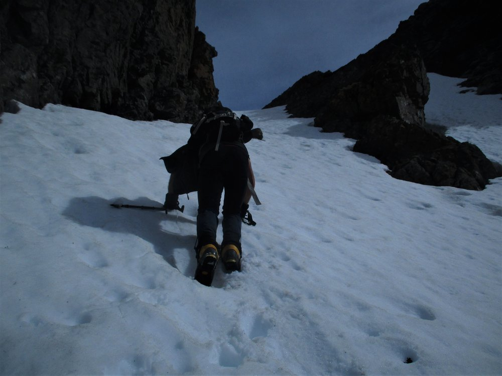 Snow couloir Scotts Knob