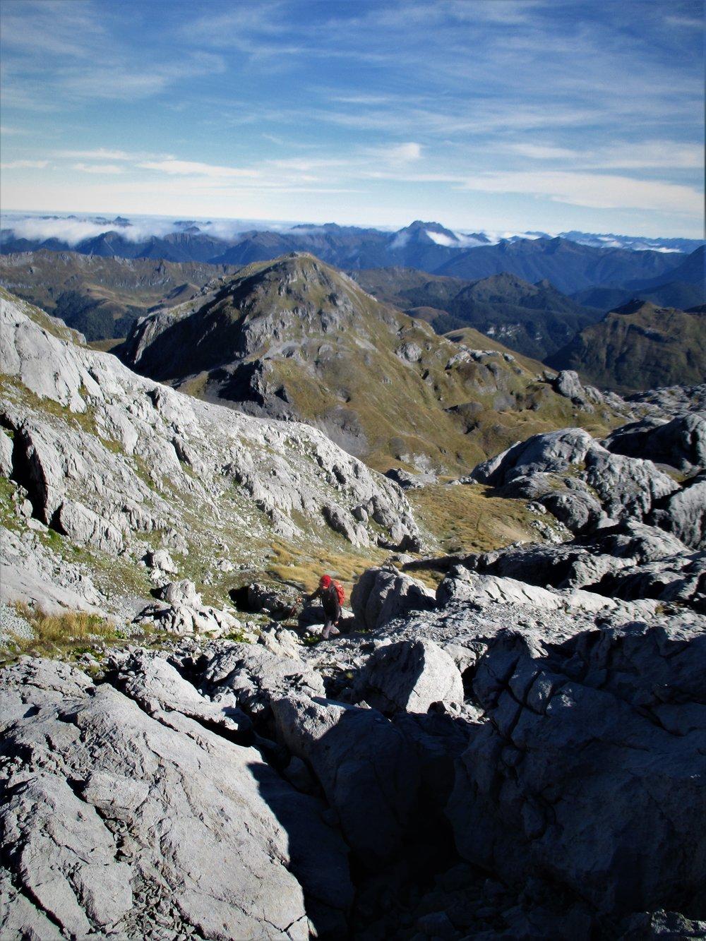The final meters of a nice mornings walk up Mount Owen