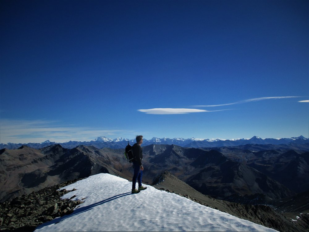 Fantastic panorama of the Southern Alps from Fox Peak