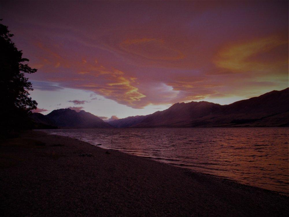 Lake Ohau at dusk