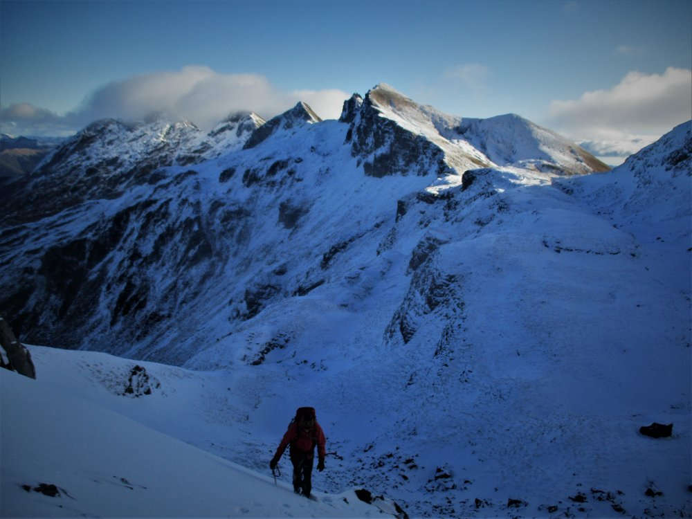 Elliot on Winter peak