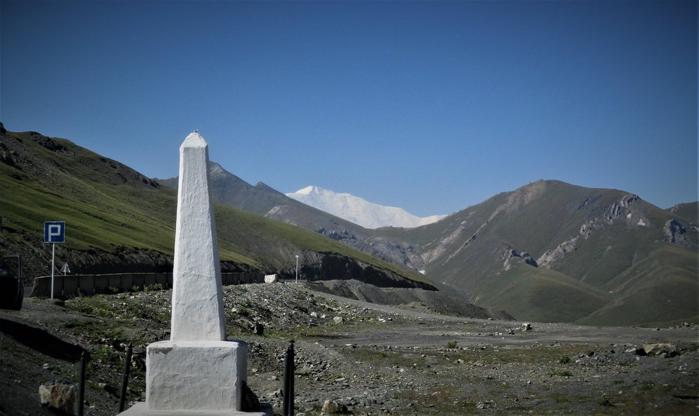 First view of the Pamirs was Peak Lenin from the top of the Taidyk pass (3600m)