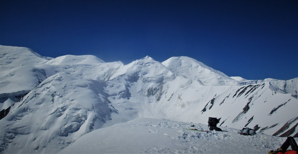 Looking West from the summit 5120m