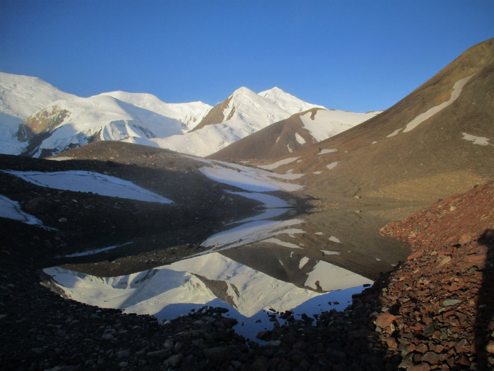 Favorite campsite was by these glacial pools.