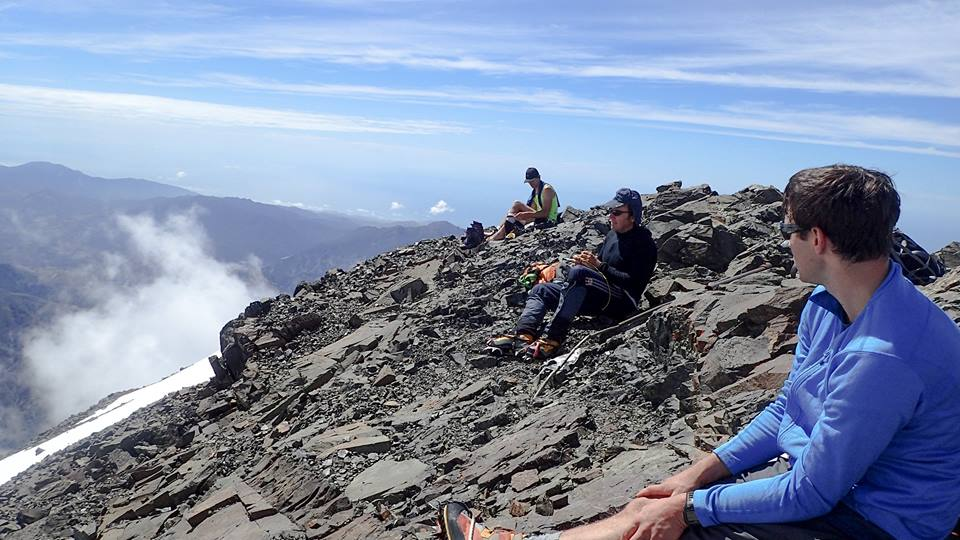 Sunning on the warm summit before the Thunderstorms rolled in.