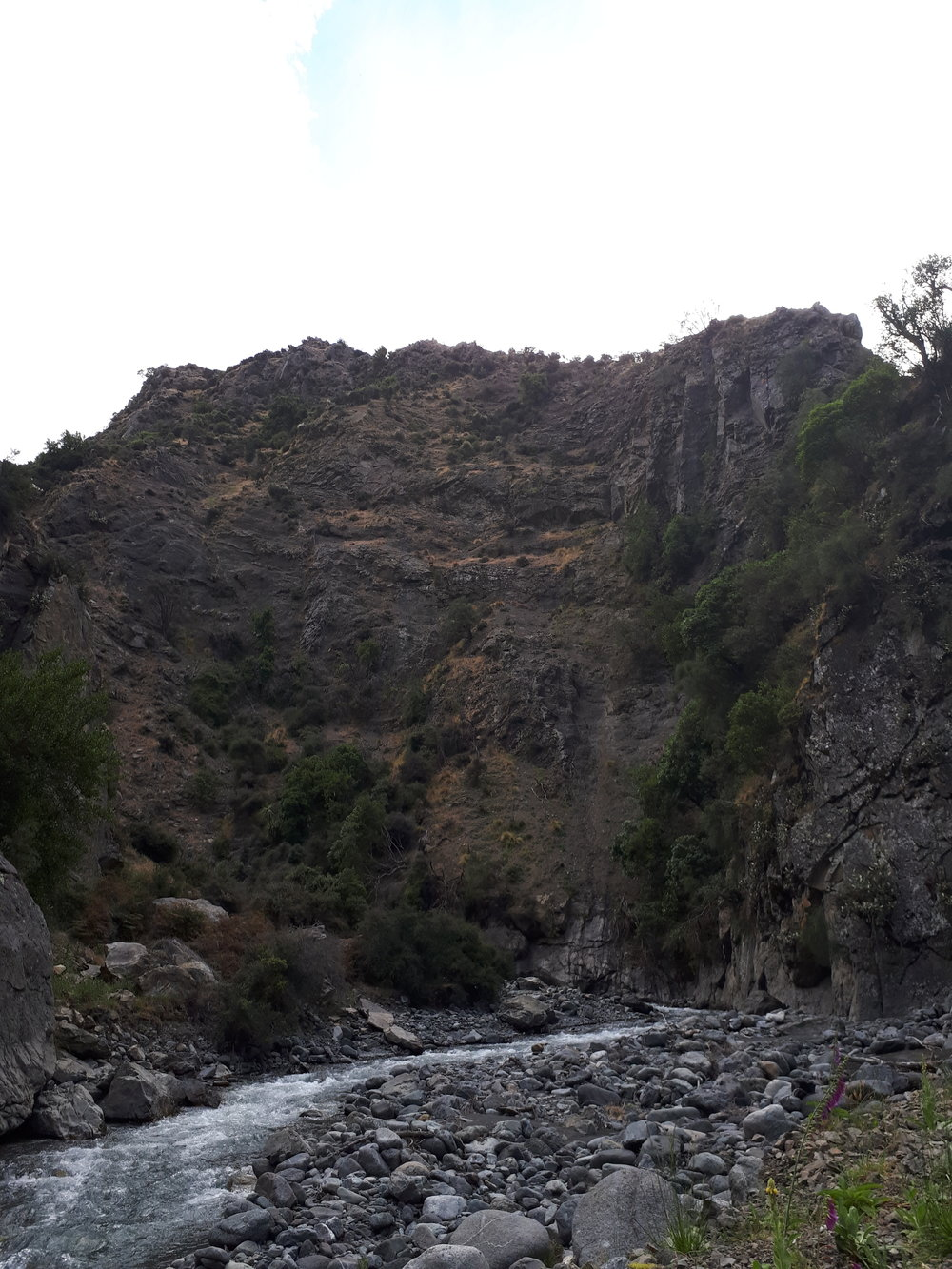 The trip up the Hodder river canyons takes 4 to 5 hours and up to 80 river crossings before arriving at the Hodder hutsite below the mountain.