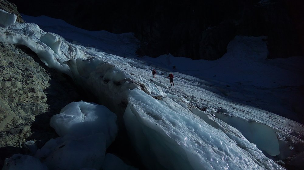 On the lower Glacier