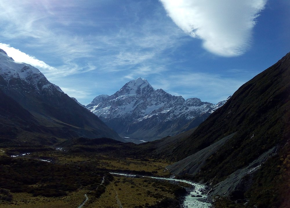 Mount Cook up the Hooker valley