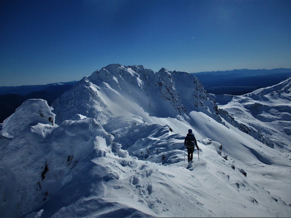 Heading towards a traverse of peak 1926