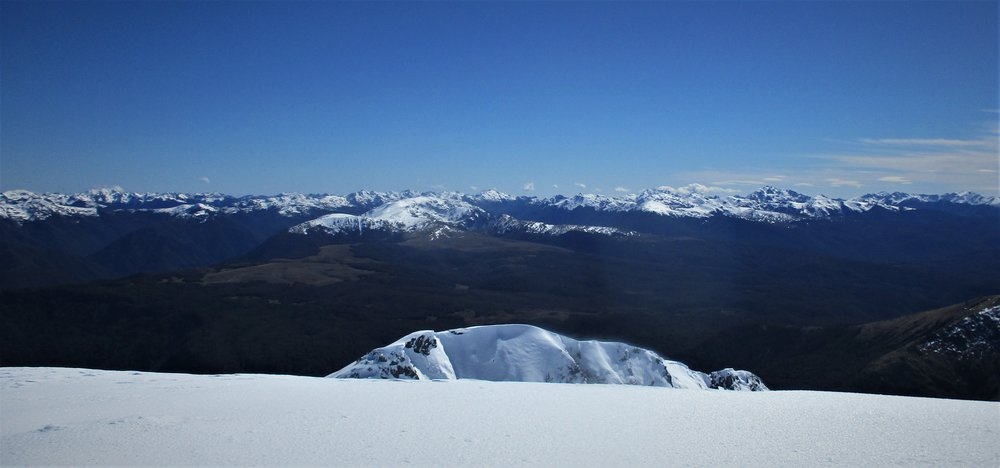 Western ranges from the summit