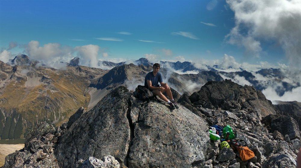 Ashley, summit Mount Chittenden