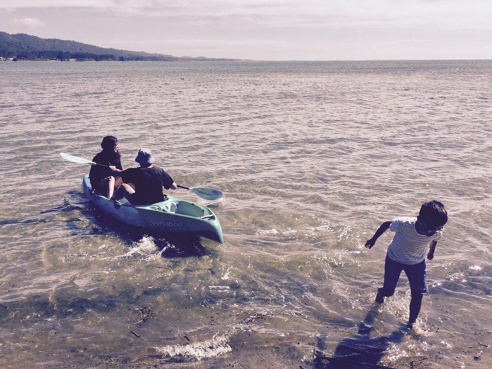 Kayaking in Golden Bay