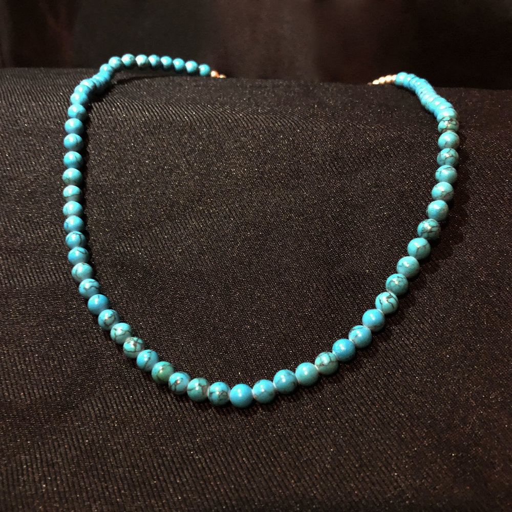 Sea Blue/Turquoise Bead Necklace
