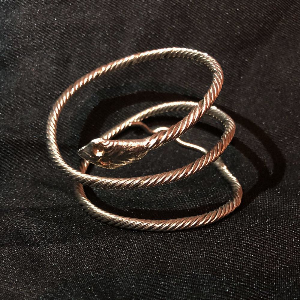 Silver Snake Shaped Bracelet